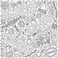 Genetic doodle illustration Royalty Free Stock Photo