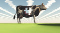 Genetically modified cow puzzle piece missing Stock Photography