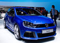 Geneva 2012 - Volkswagen golf R Royalty Free Stock Photo