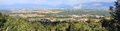 Geneva area panorama switzerland of by beautiful day from jura mountain Royalty Free Stock Photos