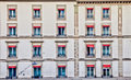 Geneva Cityscape - Row of Old Windows Royalty Free Stock Photo