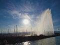 Geneva harbour Royalty Free Stock Photo