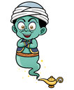 Genie just came out of the lamp vector illustration Royalty Free Stock Photo