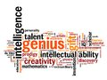 Genius issues and concepts word cloud illustration word collage concept Royalty Free Stock Photo