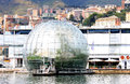 Genoa Biosphere in the old harbor in Italy Royalty Free Stock Image