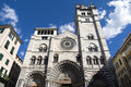 Genoa cathedral of saint lawrence in italy Stock Photo