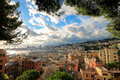 Genoa italian historic touristic city, beautiful cityscape with harbor. Royalty Free Stock Photo