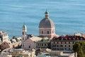 Genoa Pegli district aerial view panorama landscape cityscape Royalty Free Stock Photo
