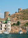 Genoese fortress cembalo in balaklava crimea ukraine Stock Photography