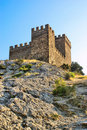 Genoese fortress. Consul castle. Fortifiaction. Stock Photo