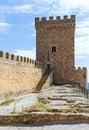Genoese fortress in crimea ukraine Stock Image