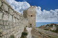 Genoese fortress in town of Feodosia Stock Photography