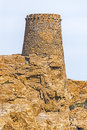 Genoese tower of Pietra Islet in Corsica Royalty Free Stock Photo
