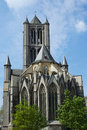 Gent cathedral and blue sky Stock Photography