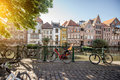 Gent city in Belgium Royalty Free Stock Photo