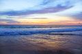 Gentle beautiful sunset on the andaman sea Royalty Free Stock Photo