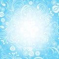 Gentle blue easter floral frame Stock Image