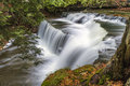 Gentle cannings beautiful and well hidden falls in fall Stock Images