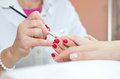 Gentle care of nails Stock Photography