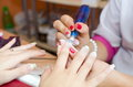 Gentle care of nails Royalty Free Stock Images