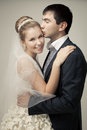 Gentle couple of lovers groom and bride. Royalty Free Stock Images