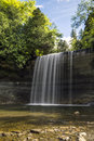 Gentle falls bridal veil on manitoulin island Royalty Free Stock Images