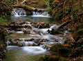 Gentle falls this gently flowing stream was located in the forest of warm springs virginia Stock Photos