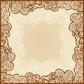 Gentle floral frame