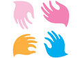 Gentle hands vector illustration of hand gesture Royalty Free Stock Photography