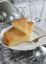 Gentle Pie on a Christmas Table Royalty Free Stock Image