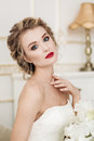 Gentle portrait of bride blonde Royalty Free Stock Photo