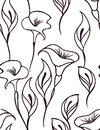 Gentle floral seamless pattern with a white background