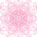Gentle valentine frame white pink filigree floral vector eps Stock Image