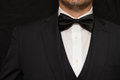 Gentleman in black tie close up of a wearing Royalty Free Stock Photo