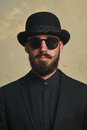 Gentleman with Bowler Hat Royalty Free Stock Photo