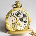 Gentleman's Antique Fob Watch Royalty Free Stock Photo