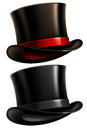 Gentleman top hat two black hats isolated on white background vector illustration Stock Image