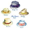 Gentlemen`s hats types