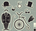 Gentlemens fashion and accessories vector Royalty Free Stock Photos
