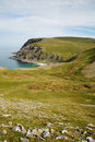 Gently sloping headland of summer Soroya. Stock Images
