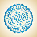 Genuine retro stamp vector illustration Royalty Free Stock Photography