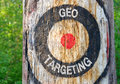 Geo Targeting - tree with target Royalty Free Stock Photo