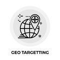 Geo Targetting Line Icon