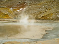 Geo thermal south iceland geiser in geothermal area of raykjavik Royalty Free Stock Images