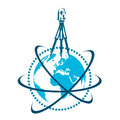 Geodesic device and globe symbol