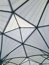 Geodesic fiberglass dome roof structure, texture and background Royalty Free Stock Photo