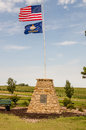 Geographic center of the us windy day at continental united states near lebanon kansas Royalty Free Stock Image