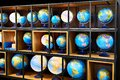 Geographic globes in store Royalty Free Stock Photo