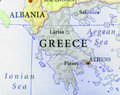 Geographic map of European country Greece with important cities Royalty Free Stock Photo