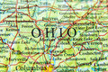 Geographic map of Ohio close Royalty Free Stock Photo